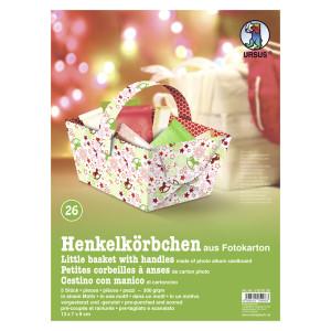 """Henkelkörbchen """"Wintertime Traditional"""" Schaukelpferde"""