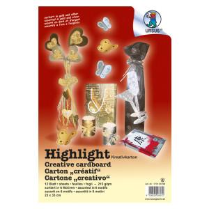 """Highlight """"Gold & Silber"""" 23 x 33 cm - 12 Blatt sortiert"""