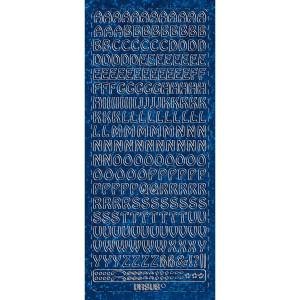 """Hologramm Sticker """"Buchstaben groß 1"""" blau"""
