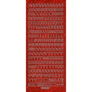 """Hologramm Sticker """"Buchstaben groß 1"""" rot"""