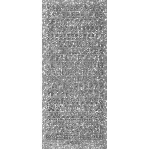 """Hologramm Sticker """"Buchstaben groß 1"""" silber"""