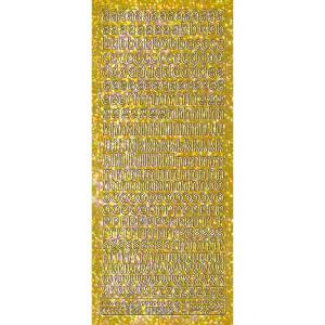 """Hologramm Sticker """"Buchstaben klein 1"""" gold"""