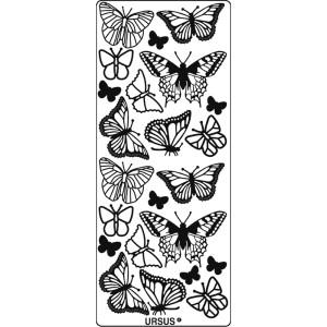 """Hologramm Sticker """"Schmetterlinge"""" pink"""
