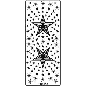 """Hologramm Sticker """"Sterne 4"""" blau"""