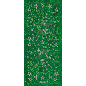 """Hologramm Sticker """"Sterne 4"""" grün"""