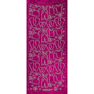 """Hologramm Sticker """"Wäscheleine"""" pink"""