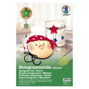 """Hologrammfolie 100 µm """"Sterne"""" 35 x 50 cm - 1 Rolle"""
