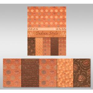 "Indian Style ""Durva"" 23 x 33 cm - 5 Blatt"