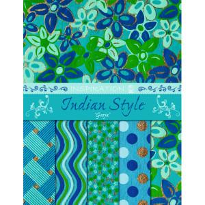 """Indian Style """"Garja"""" 21,6 x 28 cm - 5 Blatt sortiert"""