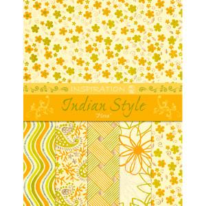 "Indian Style ""Hena"" 21,6 x 28 cm - 5 Blatt sortiert"