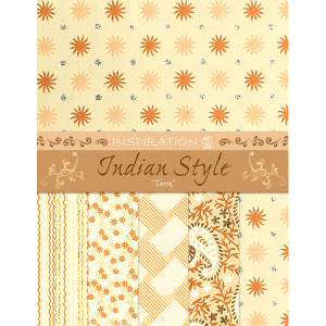 "Indian Style ""Tariq"" 21,6 x 28 cm - 5 Blatt sortiert"