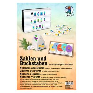 """Kombi-Block """"Buchstaben, Zahlen Regenbogen"""" 23 x 33 cm - 30 Blatt kombiniert"""
