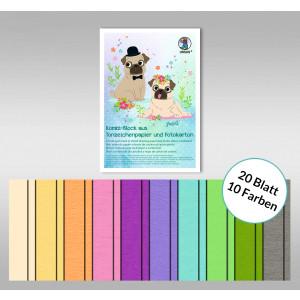 "Kombi-Block ""Sonderedition Pastell"" 23 x 33 cm - 30 Blatt kombiniert"