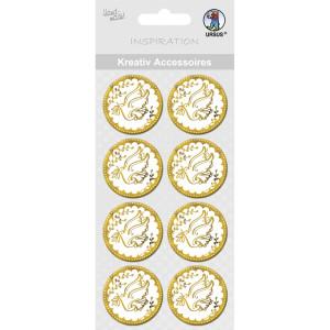 "Kreativ Accessoires ""Charity"" gold Taube - Motiv 301"