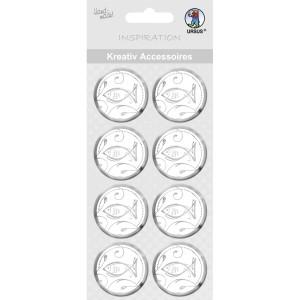 """Kreativ Accessoires """"Charity"""" silber Fisch - Motiv 298"""