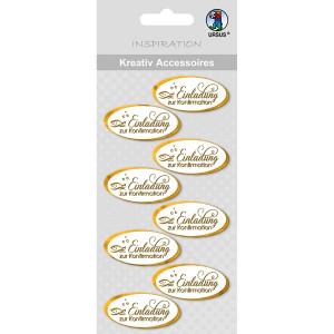 Kreativ Accessoires Sticker Kelch+Brot silber-weiss Kommunion Konfirmation