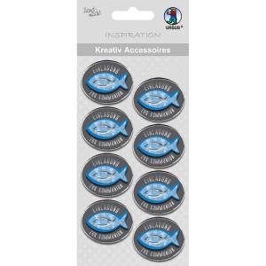 """Kreativ Accessoires """"Religion blue"""" Einladung zur Kommunion - Motiv 351F"""
