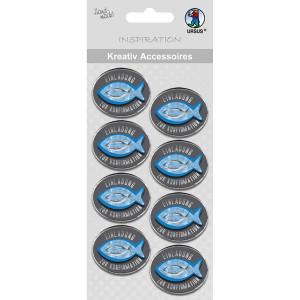 """Kreativ Accessoires """"Religion blue"""" Einladung zur Konfirmation - Motiv 350F"""