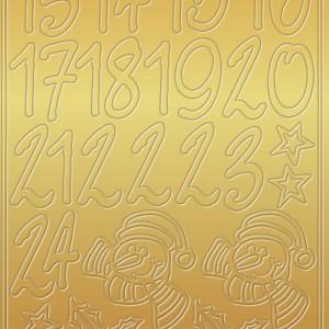 "Kreativ Sticker ""Adventskalender"" gold"
