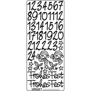 "Kreativ Sticker ""Adventskalender"" silber"