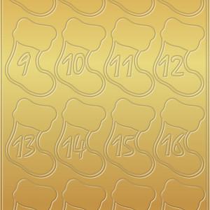 """Kreativ Sticker """"Adventszahlen Stiefelchen"""" gold"""