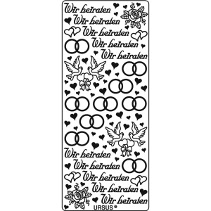 "Kreativ Sticker ""Wir heiraten"" silber"