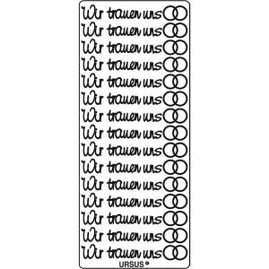 """Kreativ Sticker """"Wir trauen uns"""" gold"""