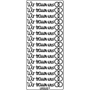 """Kreativ Sticker """"Wir trauen uns"""" silber"""