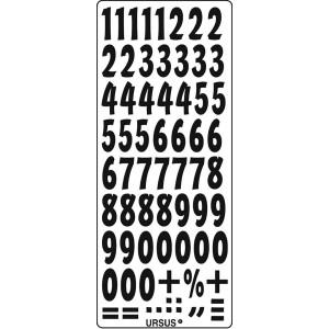 """Kreativ Sticker """"Zahlen"""" schwarz"""