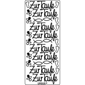 """Kreativ Sticker """"Zur Taufe"""" silber"""