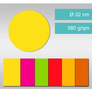 Kreise aus Leuchtfarbenkarton ⌀ 32 cm - 25 Stück