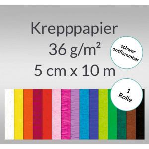 Krepppapier 32 g/qm 50 cm x 10 m - 1 Rolle