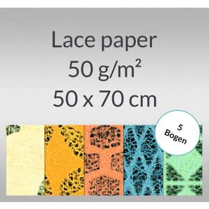 Lace paper 50 g/qm 50 x 70 cm - 5 Bogen