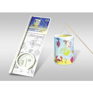 """Laternen-Bastelset 15 mit Transparentpapier zum Ausmalen """"Meerjungfrau"""""""