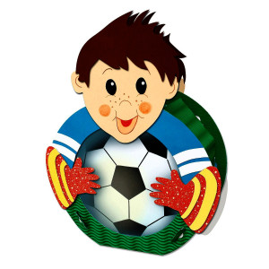 """Laternen-Bastelset """"Fußballer"""" rund 24"""