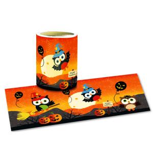 "Laternenzuschnitte ""Halloween Eule"" - 25 Blatt"