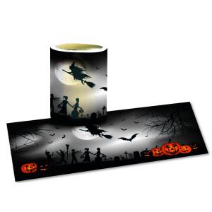 "Laternenzuschnitte ""Halloween Hexen"" - 25 Blatt"