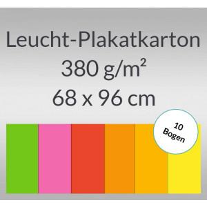Leucht-Plakatkarton 380 g/qm 68 x 96 cm - 10 Bogen