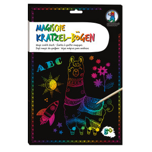 Magische Kratzel-Bögen, DIN A4, 10 Blatt, mit Regenbogeneffekt