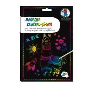 Magische Kratzel-Bögen, DIN A5, 10 Blatt, mit Regenbogeneffekt