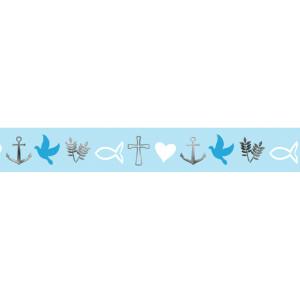 """Masking Tape """"Religion blue"""" blau, silber - Motiv 22"""