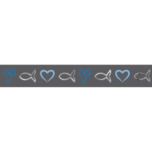 """Masking Tape """"Religion blue"""" grau-blau, silber - Motiv 21"""
