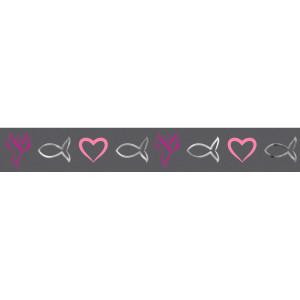 """Masking Tape """"Religion pink"""" grau-pink, silber - Motiv 19"""