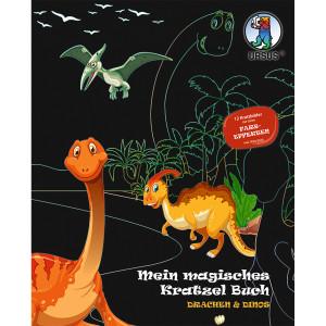 Mein magisches Kratzelbuch Drachen & Dinos, Kratzbildern