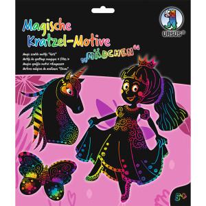 Mein magisches Kratzelbuch Mädchen, Kratzbildern