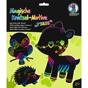 Mein magisches Kratzelbuch Tiere, Kratzbildern