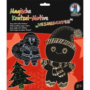 Mein magisches Kratzelbuch Weihnachten, Kratzbildern