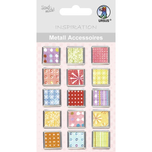 "Metall Accessoires ""Buttons"" eckig"