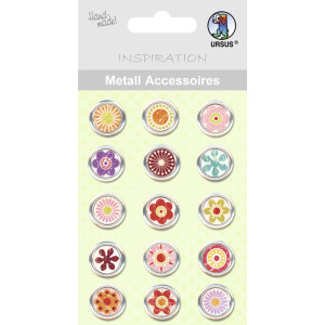 "Metall Accessoires ""Buttons"" rund"