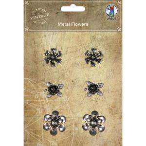 """Metall Sticker """"Vintage"""" Blumen klein"""